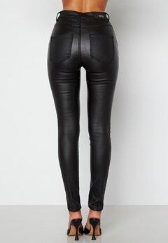 BUBBLEROOM Bianca coated jeans Black bubbleroom.no