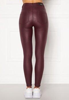BUBBLEROOM Bianca coated jeans Red Bubbleroom.no