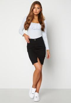 BUBBLEROOM Bianca denim skirt Black Bubbleroom.no