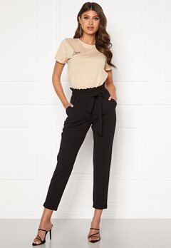 BUBBLEROOM Bonita soft paperbag pant Black Bubbleroom.no