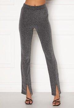 BUBBLEROOM Bonita sparkling slit leggings Black / Silver Bubbleroom.no