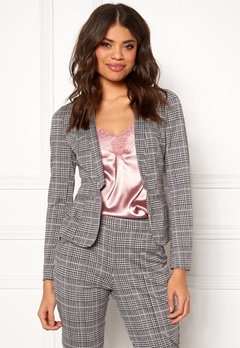 BUBBLEROOM Brienne blazer Grey / Pink / Checked Bubbleroom.no