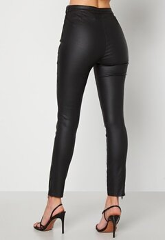 BUBBLEROOM Brienne coated zip leggings Black Bubbleroom.no