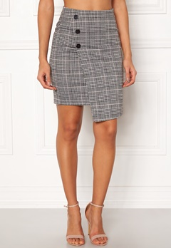 BUBBLEROOM Brienne skirt Grey / Pink / Checked Bubbleroom.no