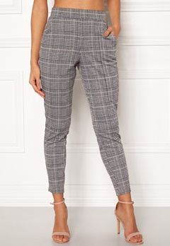 BUBBLEROOM Brienne trousers Grey / Pink / Checked Bubbleroom.no