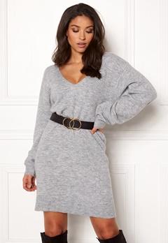 BUBBLEROOM Brooke knitted dress Grey melange Bubbleroom.no