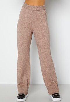 Bubbleroom Care Rinja Knitted Trousers Nougat / Melange bubbleroom.no