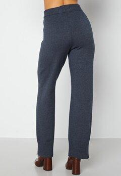 Bubbleroom Care Rinja Knitted Trousers Dusty blue / Melange bubbleroom.no
