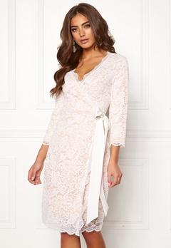 BUBBLEROOM  Carolina Gynning lace wrap dress White Bubbleroom.no