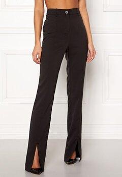 BUBBLEROOM Carolina Gynning Slitted trouser Black Bubbleroom.no