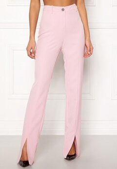 BUBBLEROOM Carolina Gynning Slitted trouser Light pink Bubbleroom.no