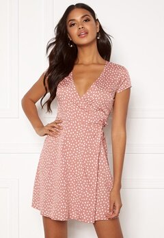 BUBBLEROOM Caylee dress Dusty pink / White / Dotted Bubbleroom.no