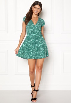 BUBBLEROOM Caylee dress Green / White / Dotted Bubbleroom.no