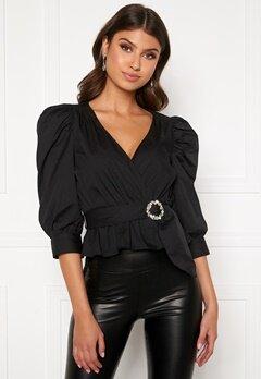 BUBBLEROOM Charlie puff sleeve blouse Black Bubbleroom.no