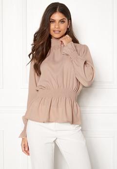 BUBBLEROOM Chelsea blouse Linen beige Bubbleroom.no