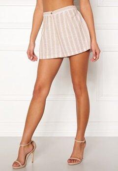 BUBBLEROOM Chiselle shorts Beige / White / Striped Bubbleroom.no