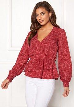 BUBBLEROOM Denice blouse Red / White / Dotted Bubbleroom.no