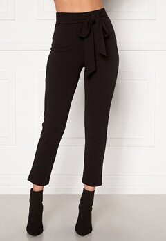 BUBBLEROOM Dilara straight leg trousers Black Bubbleroom.no