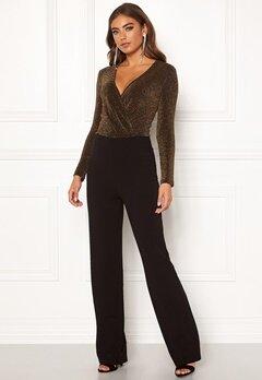BUBBLEROOM Edalia sparkling top jumpsuit Black / Gold Bubbleroom.no