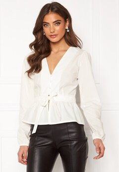 BUBBLEROOM Elina blouse White Bubbleroom.no