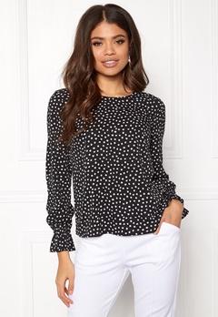 BUBBLEROOM Elma blouse Black / White / Dotted Bubbleroom.no