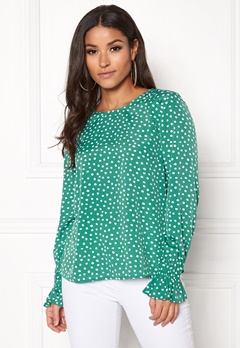 BUBBLEROOM Elma blouse Green / White / Dotted Bubbleroom.no