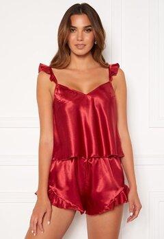 BUBBLEROOM Eve flouncy pyjama set Red Bubbleroom.no