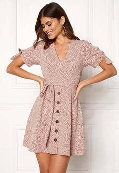 BUBBLEROOM Florine dress Beige / Dotted Bubbleroom.no