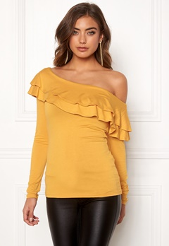 BUBBLEROOM Frieda frill top Yellow Bubbleroom.no