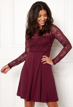 BUBBLEROOM Grace lace dress Wine-red Bubbleroom.no