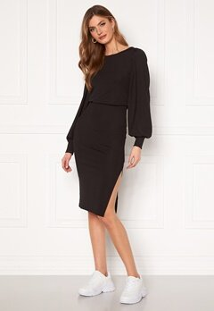 BUBBLEROOM Gry balloon sleeve dress Black Bubbleroom.no