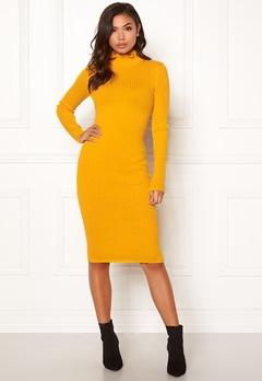 BUBBLEROOM Hilma knitted dress Mustard yellow Bubbleroom.no