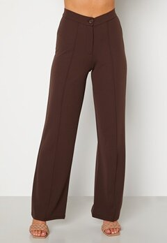 BUBBLEROOM Hilma soft suit trousers Dark brown bubbleroom.no