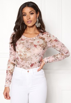 BUBBLEROOM Hope mesh top Pink / Floral Bubbleroom.no