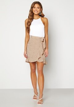 BUBBLEROOM Ida skirt Beige / Brown / Leopard Bubbleroom.no