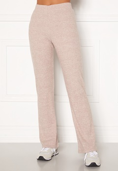 BUBBLEROOM Ilse rib trousers Beige melange Bubbleroom.no