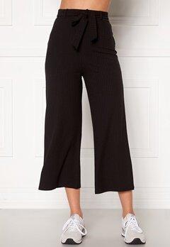 BUBBLEROOM Indira rib trousers Black Bubbleroom.no