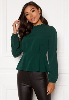 BUBBLEROOM Irida blouse Dark green Bubbleroom.no