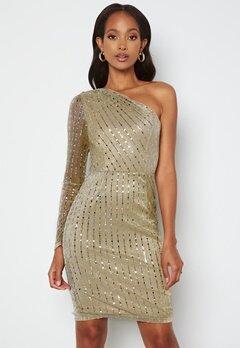 BUBBLEROOM Ivana Sparkle Dress Gold bubbleroom.no
