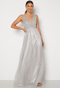 BUBBLEROOM Ivory embellished prom dress Light grey bubbleroom.no