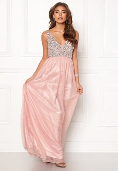 BUBBLEROOM Ivory embellished prom dress Light pink Bubbleroom.no