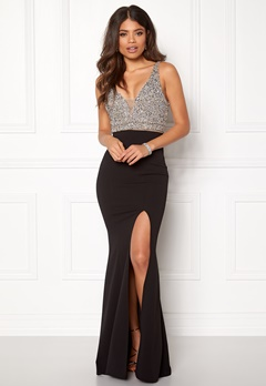 BUBBLEROOM Ivy embellished prom dress Black Bubbleroom.no