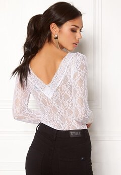 BUBBLEROOM Ivy lace top White Bubbleroom.no