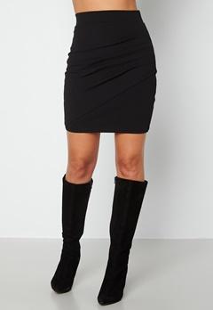 BUBBLEROOM Janni ruched skirt Black bubbleroom.no
