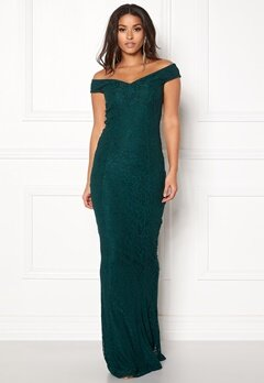 BUBBLEROOM Jennifer lace dress Dark green Bubbleroom.no