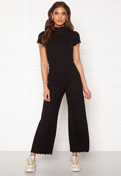 BUBBLEROOM Jessie rib trousers Black Bubbleroom.no
