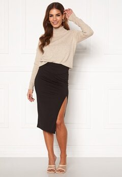 BUBBLEROOM Jouline midi skirt Black Bubbleroom.no