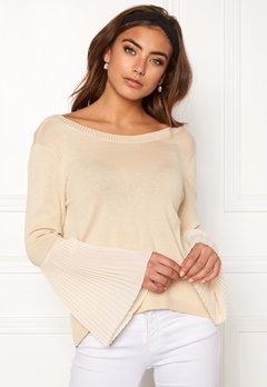 BUBBLEROOM Juliet knitted sweater Beige Bubbleroom.no
