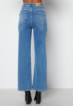 BUBBLEROOM June wide leg stretch jeans Medium blue bubbleroom.no
