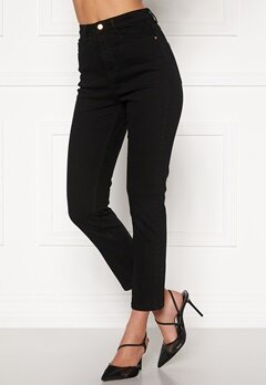 BUBBLEROOM Katy high waist semi stretch jeans Black Bubbleroom.no
